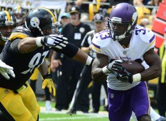 Steelers Heyward Stops Vikings Cook for Loss
