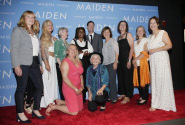 Tracy Edwards at the 'Maiden' New York premiere