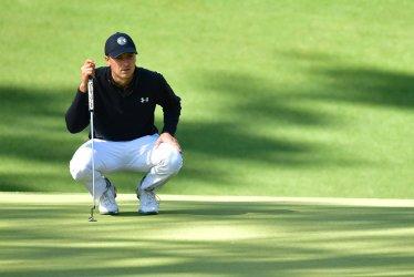 Jordan Spieth  at the 2018 Masters in Augusta, Georgia