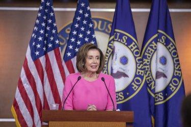 U.S. Speaker of the House Rep. Nancy Pelosi Weekly Press Conference..