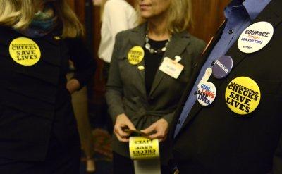Gun safety advocatrs gather for introduction of legislation event in Washington