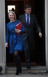Liz Truss leaves Cabinet meeting at No.10 Downing St