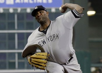 Yankees starter Sabathia throws in second inning in the ALCS