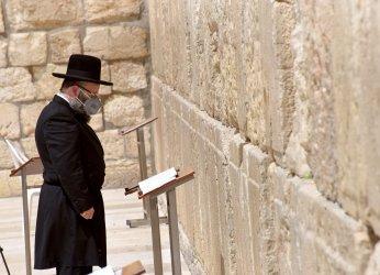 A Rabbi Prays At The Western Wall