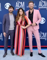 Dave Haywood, Hillary Scott and Charles Kelley attend the Academy of Country Music Awards in Las Vegas