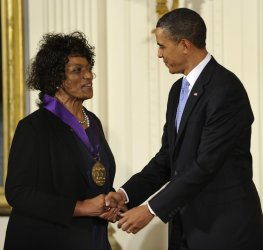 Jessye Norman awarded the National Medal of the Arts at White House