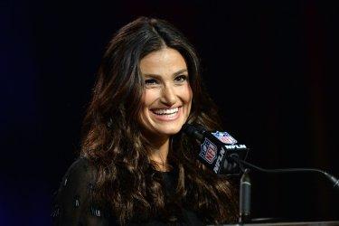 Idina Menzel Super Bowl National Anthem Press Conference in Phoenix, Arizona