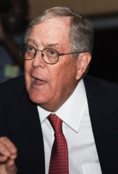 Billionaire New York philanthropist David Koch attends conservative conference in Washington