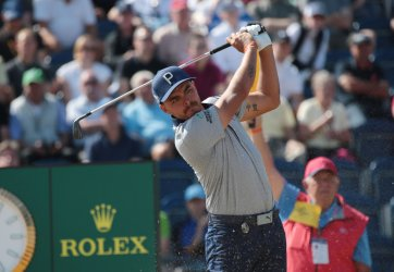 Rickie Fowler tees off at 147th Open Golf Championships
