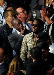 Don Cheadle and  Diddy attend the WBC Welterweight Title in Las Vegas