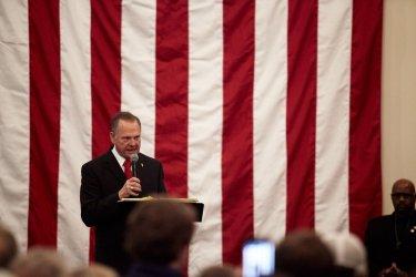 Republican Senatorial candidate Roy Moore Campaign Rally in Alabama