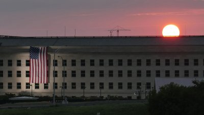 Sun rises at the Pentagon on 15th Anniversary of 9/11