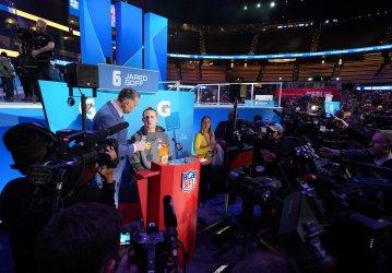 Rams Jared Goff at Super Bowl Opening Night in Atlanta