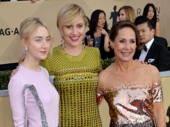 Saoirse Ronan, Laurie Metcalf and Greta Gerwig attend the 24th annual SAG Awards in Los Angeles