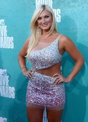 Actress Brooke Hogan arrives at the 2012 MTV Movie Awards in Universal City, California