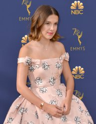 Millie Bobby attends the 70th annual Primetime Emmy Awards in Los Angeles