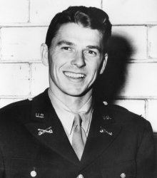 Lieutenant Ronald Reagan at Fort Mason