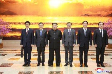 North Korean Leader Kim Jong Un Meets with South Korean Envoys