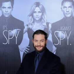 "Tom Hardy attends the ""This Means War"" premiere in Los Angeles"