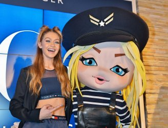 Gigi Hadid promotes in Tokyo