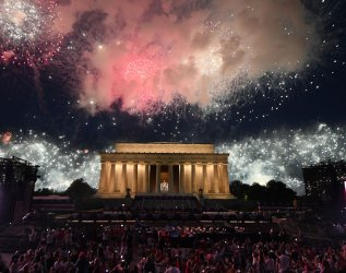 Fireworks for the Fourth in Washington, D.C.