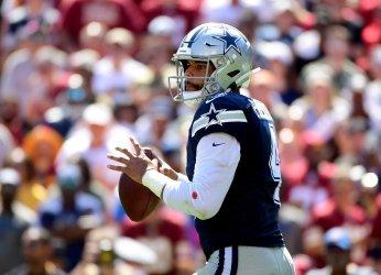 Cowboys quarterback Dak Prescott against the Redskins