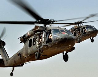 US ARMY UH-60 BLACK HAWK HELICOPTER