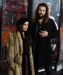 """Lisa Bonet and Jason Momoa attend the """"Live By Night"""" premiere in Los Angeles"""