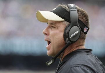 Saints head coach Sean Payton stands on the sideline