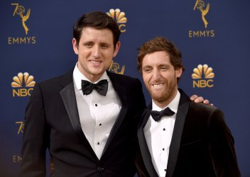 Zach Woods and Thomas Middleditch attends the 70th annual Primetime Emmy Awards in Los Angeles