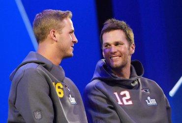 Patriots Tom Brady at Super Bowl Opening Night in Atlanta