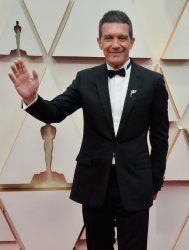 Antonio Banderas arrives for the 92nd annual Academy Awards in Los Angeles