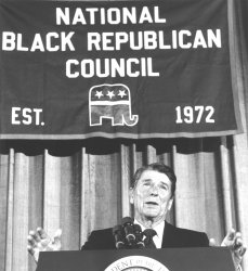 President Reagan Addresses National Black Republican Council