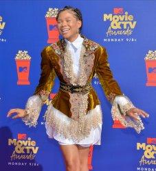 Storm Reid attends the MTV Movie & TV Awards in Santa Monica, California