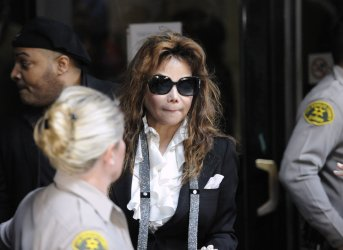 Latoya Jackson leaves the courthouse following Dr. Conrad Murray's sentencing in Los Angeles