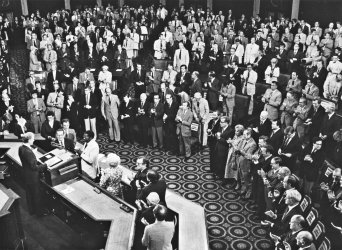 President Jimmy Carter addresses joint session of Congress following SALT II Treaty signing