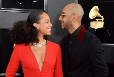 Alicia Keys and Swizz Beatz arrive for the 61st Grammy Awards in Los Angeles