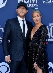 Cole Swindell and Barbie Blank attend the Academy of Country Music Awards in Las Vegas