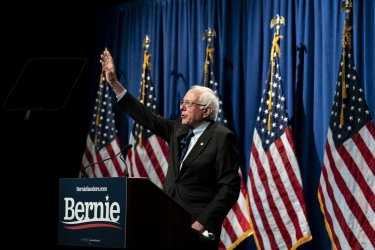 Bernie Sanders holds campaign event