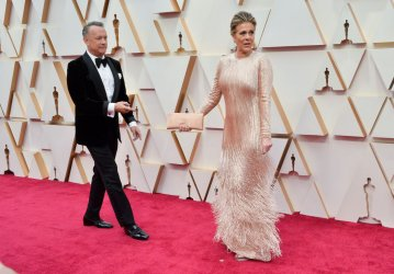 Tom Hanks and Rita Wilson arrive for the 92nd annual Academy Awards in Los Angeles