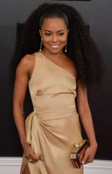 Adrienne Warren arrives for the 62nd annual Grammy Awards in Los Angeles