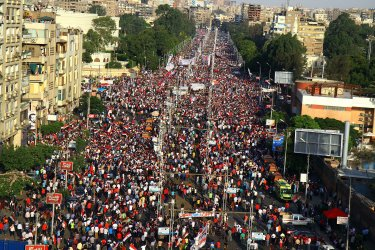 Tens of Thousands of Egyptians Took to the Streets in Rival Rallies