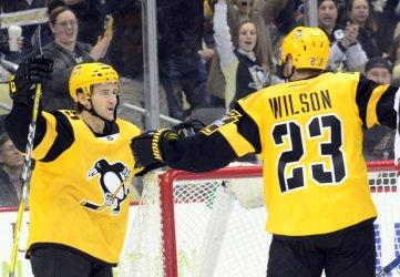 Penguins Scott Wilson Scores Against Carolina Hurricanes