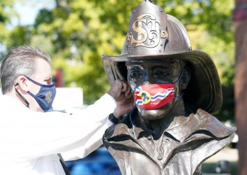 Statues in St. Louis Are Masking Up