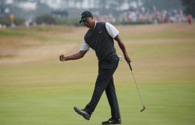 Tiger Woods plays in Round Three of Open Championship in Scotland