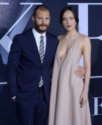 "Jamie Dornan and Dakota Johnson attend the ""Fifty Shades Darker"" premiere in Los Angeles"