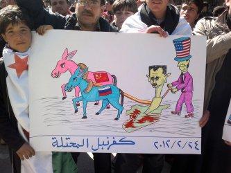 Angry Protest  Against Syria's President Bashar al-Assa