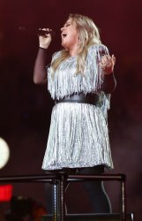 Kelly Clarkson performs at the US Open in New York