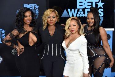 Tamika Scott, Kandi Burruss, Tameka Cottle and LaTocha Scott attend the annual BET Awards in Los Angeles