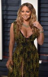 Mariah Carey arrives for the Vanity Fair Oscar Party in Beverly Hills